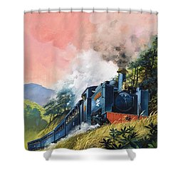 All Aboard For Devil's Bridge Shower Curtain by English School