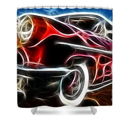 All American Hot Rod Shower Curtain by Paul Ward