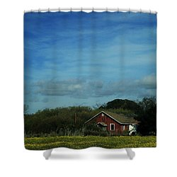 All That Yellow Shower Curtain by Laurie Search