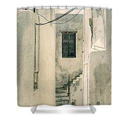 alley in Greece Shower Curtain by Joana Kruse