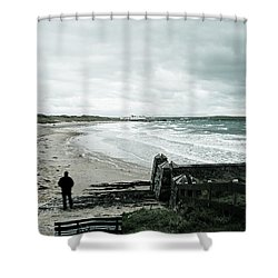 Alone Without You Shower Curtain by Georgia Fowler