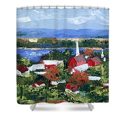 Along The Missouri  Shower Curtain by Anthony Falbo