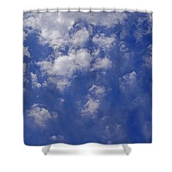 Alto Cumulus With Ice Shower Curtain by Mick Anderson