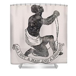 Am I Not A Man And A Brother Shower Curtain by Photo Researchers