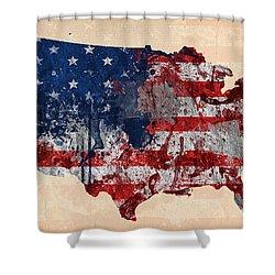 America Shower Curtain by Mark Ashkenazi