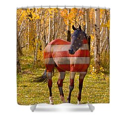 American Bred Shower Curtain by James BO  Insogna