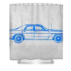 American Car Shower Curtain by Naxart Studio