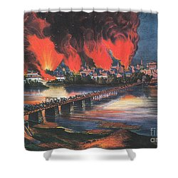 American Civil War Fall Of Richmond Shower Curtain by Photo Researchers