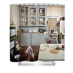 American Kitchen Shower Curtain by Granger