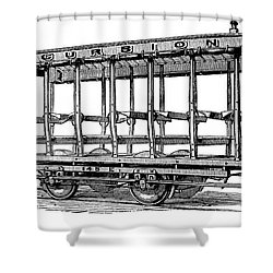 American: Streetcar, 1880s Shower Curtain by Granger