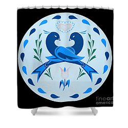 Amish Hex Design Shower Curtain by Paul W Faust -  Impressions of Light