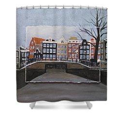 Amsterdam Bridge Layered Shower Curtain by Anita Burgermeister