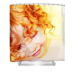 An Angels Smile Shower Curtain by Kerri Ligatich