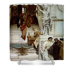 An Audience At Agrippa's Shower Curtain by Sir Lawrence Alma-Tadema