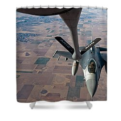 An F-16 Fighting Falcon Moves Shower Curtain by Stocktrek Images