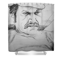An Inward Sea Shower Curtain by Rory Sagner