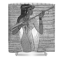 Ancient Egypt: Music Shower Curtain by Granger