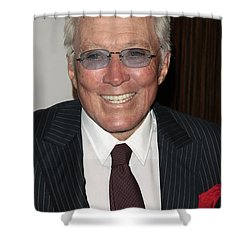 Andy Williams Shower Curtain by Nina Prommer