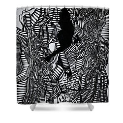 Angels Kiss Shower Curtain by Gloria Ssali
