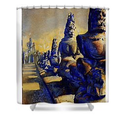 Angkor Wat Ruins Shower Curtain by Ryan Fox