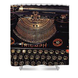 Antiquated Typewriter Shower Curtain by Jutta Maria Pusl