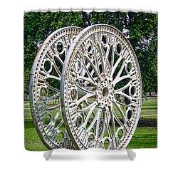 Antique Paddle Wheel University Of Alabama Birmingham Shower Curtain by Kathy Clark