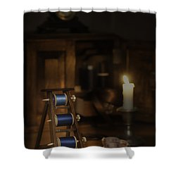 Antique Sewing Items Shower Curtain by Amanda And Christopher Elwell