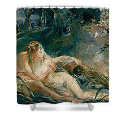 Apollo Appearing To Latone Shower Curtain by Berthe Morisot