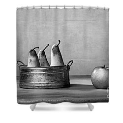 Apple And Pears 02 Shower Curtain by Nailia Schwarz