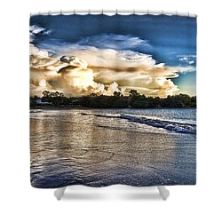Approaching Storm Clouds Shower Curtain by Douglas Barnard