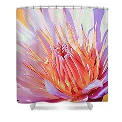 Aquatic Bloom Shower Curtain by Julie Palencia