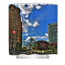 Architectural Dynamics  Shower Curtain by Michael Frank Jr
