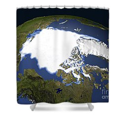 Arctic Sea Ice, 1979 Shower Curtain by NASA / Science Source