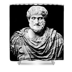 Aristotle, Ancient Greek Philosopher Shower Curtain by Omikron