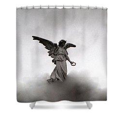 Armless Angel Shower Curtain by Doug  Duffey