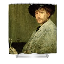 Arrangement In Grey - Portrait Of The Painter Shower Curtain by James Abbott McNeill Whistler