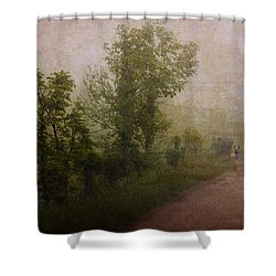 Arriving Home Shower Curtain by Ron Jones