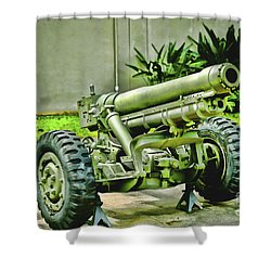Artillery Shower Curtain by Cheryl Young