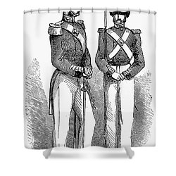 Artillery Company, 1855 Shower Curtain by Granger