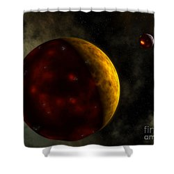 Artists Concept Of A Young, Turbulent Shower Curtain by Walter Myers