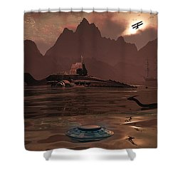 Artists Concept Of An Ancient Shower Curtain by Mark Stevenson