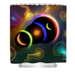 Artists Concept Of Cosmic Portals Shower Curtain by Mark Stevenson