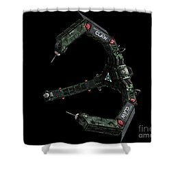 Artists Concept Of The Assimilators Shower Curtain by Rhys Taylor