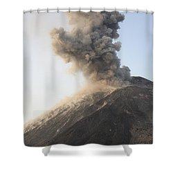 Ash Cloud From Vulcanian Eruption Shower Curtain by Richard Roscoe