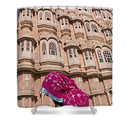 At Hawa Mahal City Palace, Jaipurs Most Shower Curtain by Axiom Photographic