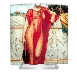 Athenais Shower Curtain by Sumit Mehndiratta