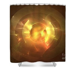 Auge Shower Curtain by Kim Sy Ok