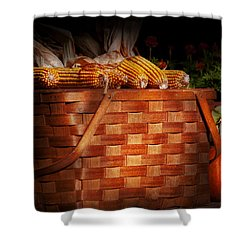 Autumn - Gourd - Fresh Corn Shower Curtain by Mike Savad