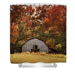 Autumn Barn Shower Curtain by Jai Johnson