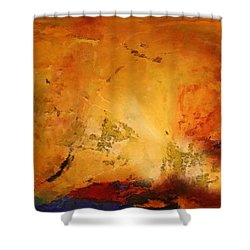Autumn Canvas Shower Curtain by Carol Cavalaris
